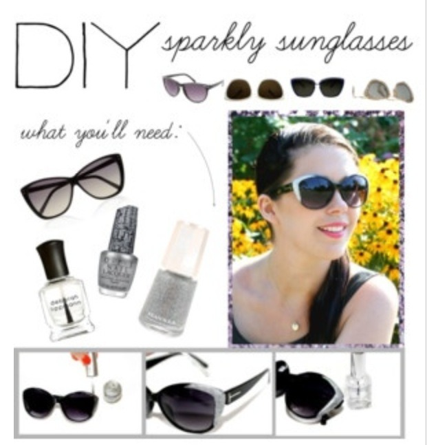 On the outer corner of your sunglasses add the nail polishes .