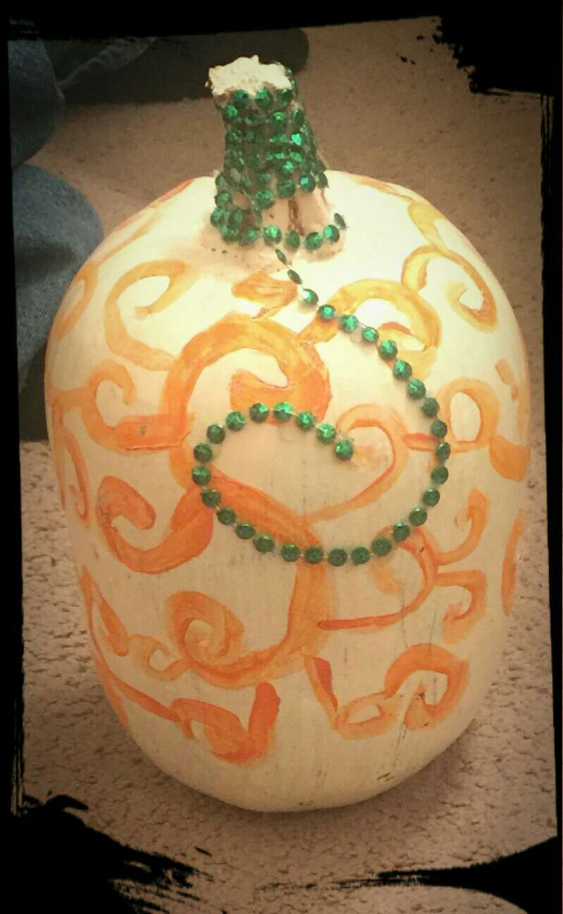 painted pumpkin easy for kids my 10 year old made this