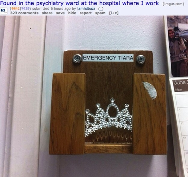 7. Put on your emergency tiara in times of stress.