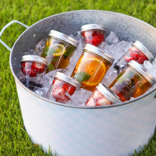 Say goodbye to sodas this year with some wholesome Summertime Sun Tea.  Salads, burgers, ribs…these yummy, portable drinks are a perfect match for any hot weather-themed meal.  Just a few sips and your picnics and barbeques will never be the same!
