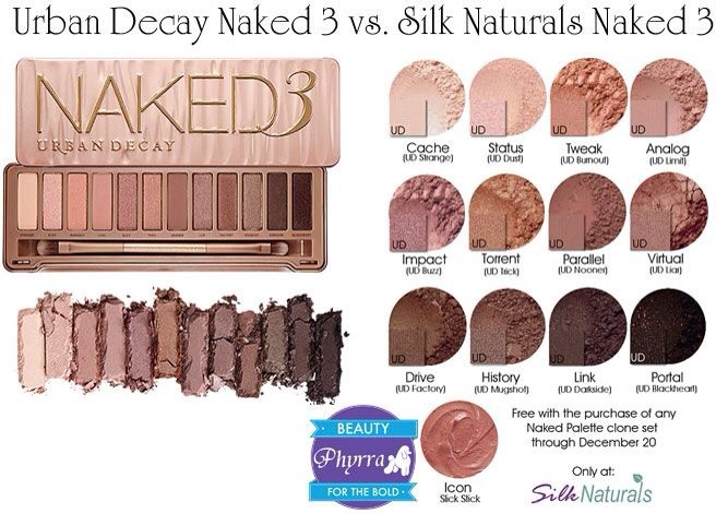 http://www.phyrra.net/2013/12/silk-naturals-vs-urban-decay-naked-3-dupes.html
