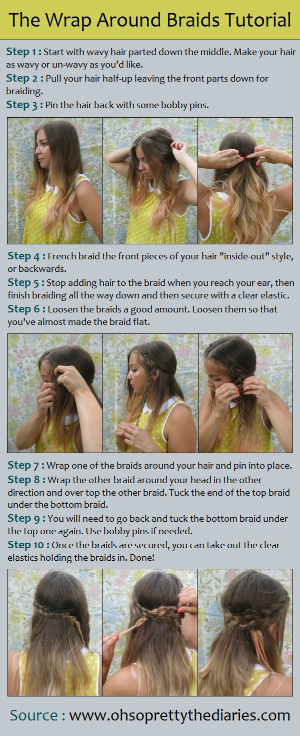 Wrap around braid.