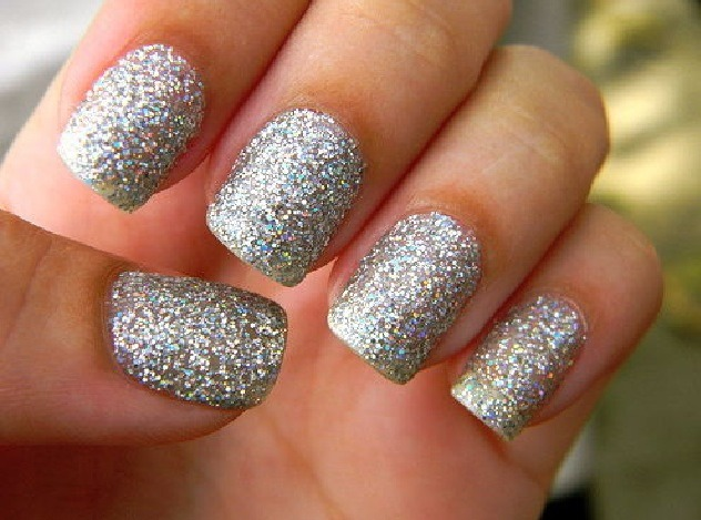 Before applying the glitter nail polish use regular Elmer's glue and apply a thin layer under the nail polish. Let glue dry and apply nail polish. When removing it will be easy to peel off. ✌️😋  *you don't need acetone to remove