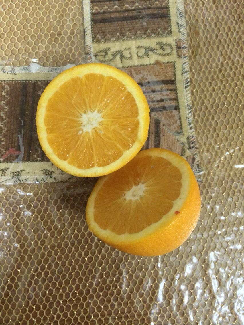 9.cut 2 oranges in half
