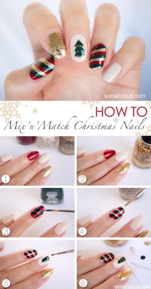 Mix N' Match Christmas Nails