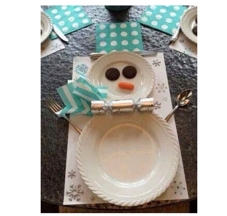 A cute twist to your Christmas Eve or day dinner for your plates. It adds to the holiday spirit!