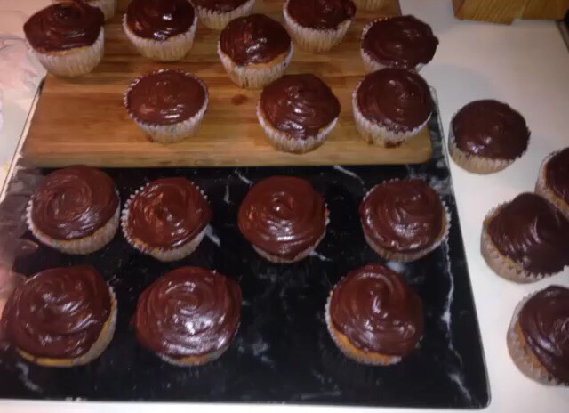 Frost cupcakes (I used chocolate frosting)