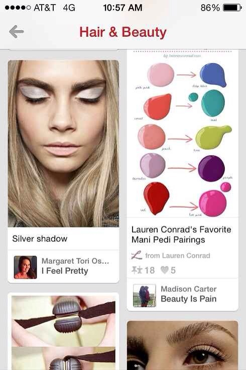 15. For photo beauty tutorials, nothing beats the Pinterest App.