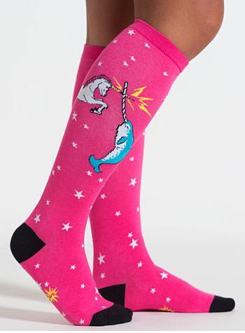 19. These epic unicorn vs. narwhal battle socks ($14).