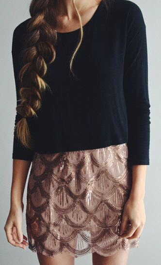 Beaded mini skirts are super cute, and you can dress them up or just wear them with a plain white tee.