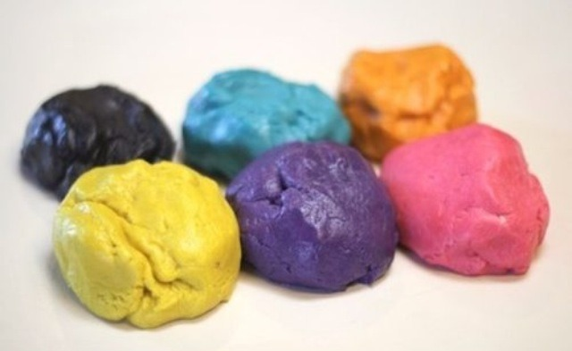 Make some normal cookie dough and make a variety of colours