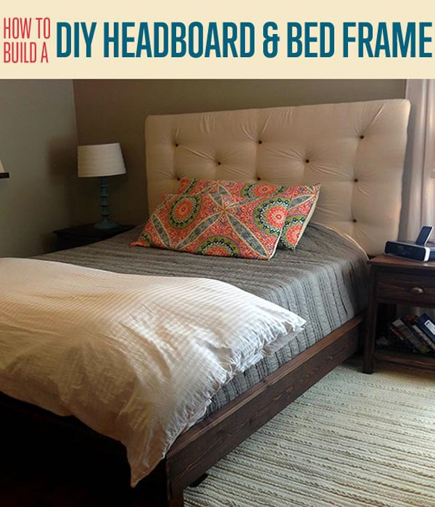 Tufted headboards look so luxurious and expensive, but they are actually pretty simple and inexpensive to make!