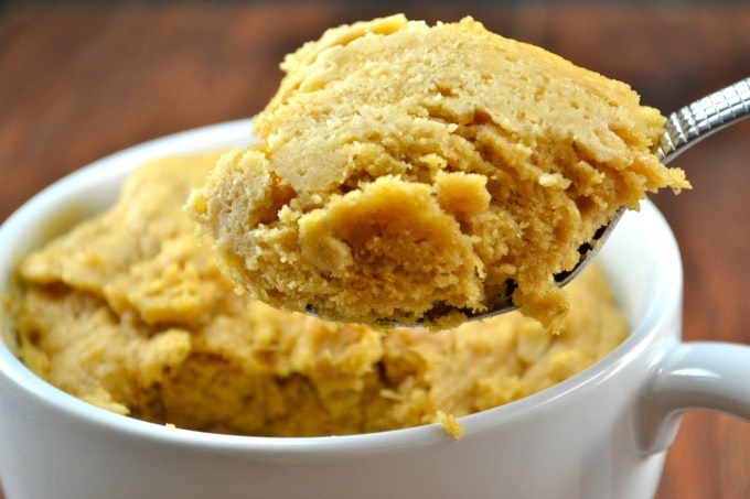 3 Ingredients Peanut Butter Cake in a Mug  Ingredients:  • 1 Egg  • 3 Tablespoons Creamy Peanut Butter  • 1 Tablespoon Granulated Sugar