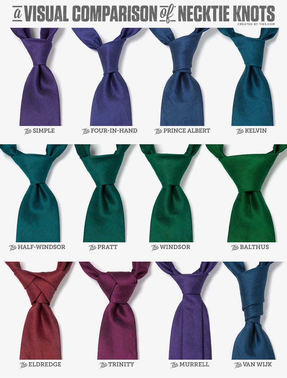 And there ya go!  18 wonderful ways to tie a necktie! 👔👍🏾
