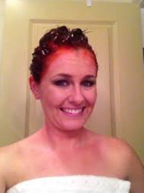 put on your head before hair dying, it prevents the dye from staining your face if you accidentally get some there.
