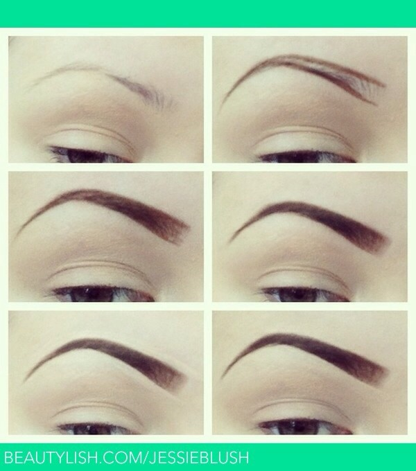 How to step by step draw fill your eyebrows in 💜
