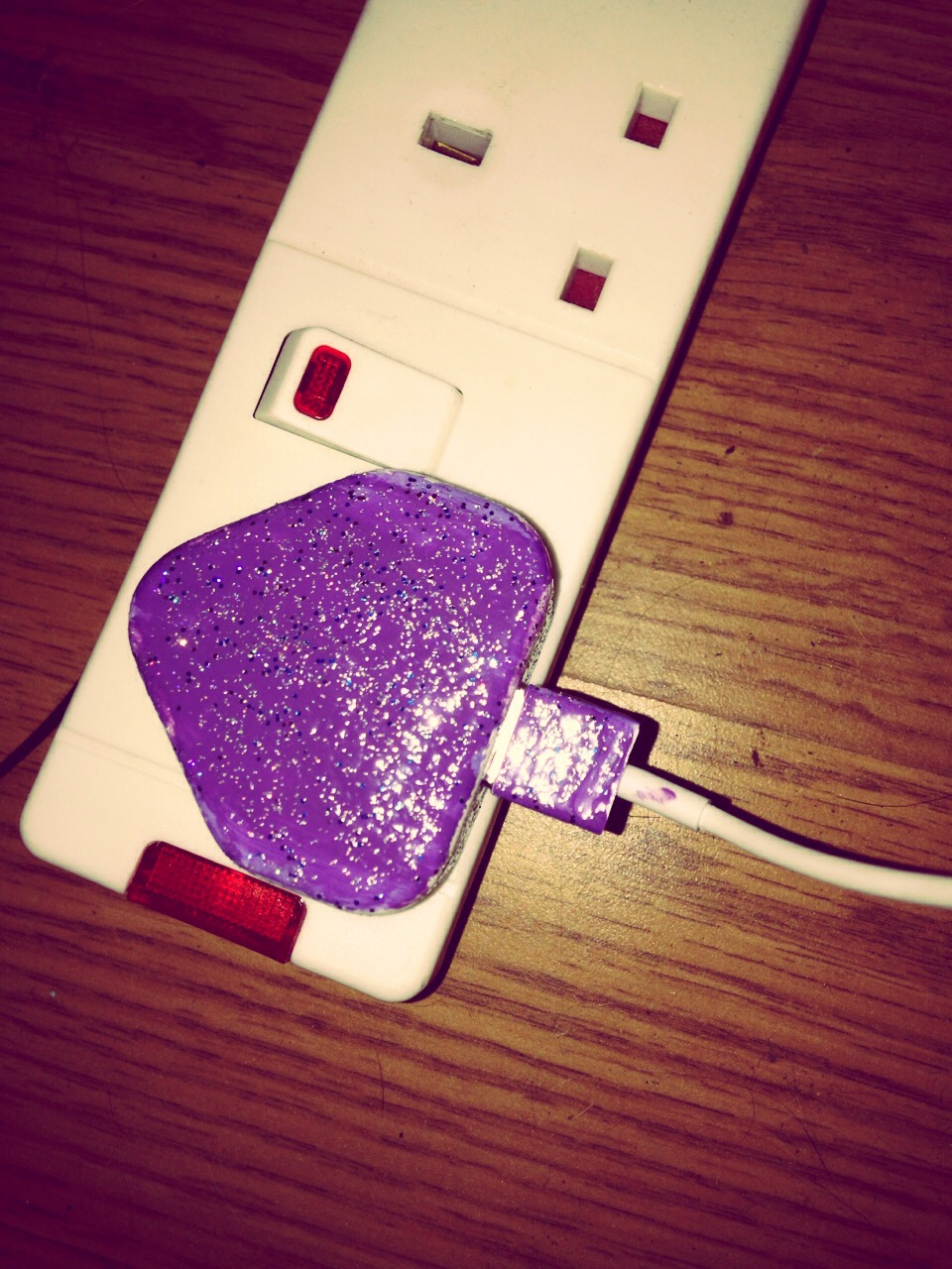 Just paint your iPhone charger with nail polish. You can paint it any colour or design! This was you can identify your charger and make it personal to you!  Please like and save✌️