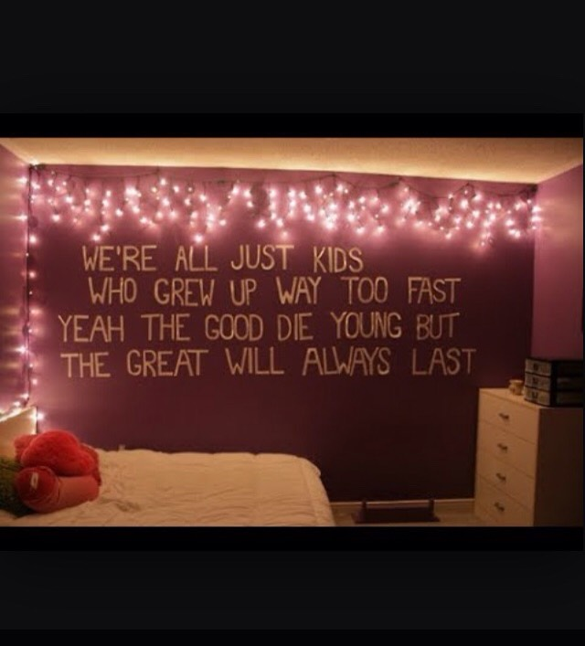 Add some quotes around your room  It doesn't have to take up the whole wall like  This one. It could be small