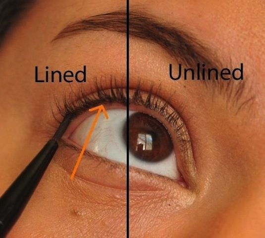 10. Tightlining What is tightlining? It's a way of applying your liner right in between your lashes. This is a great way to appear as though you're not wearing any makeup at all, yet adding a little bit of color and definition to your eyes, and making the base of your lashes appear thicker.
