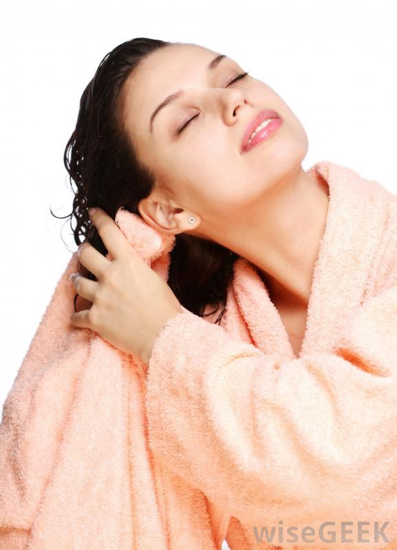 Dry your hair with towel