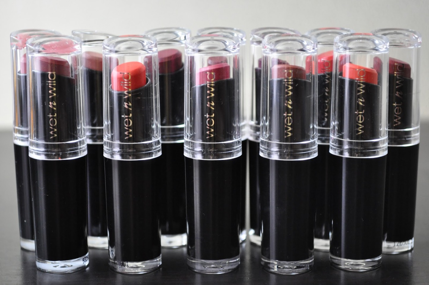 But yeah, they're so pigmented and they last a really long time. I love the pinks and red and the nudes are great, too! So if you're looking for a cheap lipstick, wet n wild is definitely worth it and just a great price.