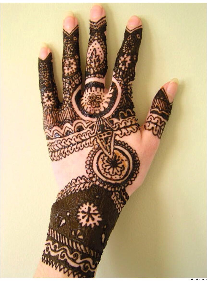 Once the henna is removed a burgundy colour appear that lasts depending on skin about 2 weeks some say that the darker the colour the more ur husband and mother in law love you ;)