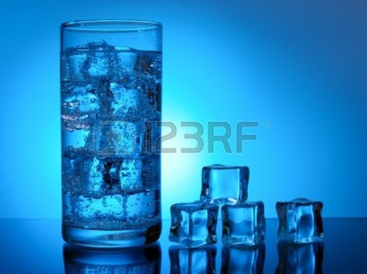 One cup of ice cold water
