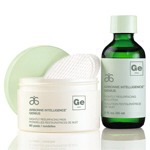 Arbonne Intelligence Genius ($95) pairs textured night pads with an intensive retinoid serum that you pour over to saturate the cotton rounds. Ingredients activated include two versions of plant and scientific retinoids, mandelic acid and bitter orange oil for sun spot and fine wrinkle reduction.
