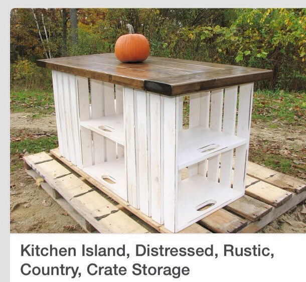 You can build this easily with 8 recycled creates, screwed together, some old pallet boards, sand the boards down to get rid of the roughness, stain and polyurethane. You have a beautiful in expensive show piece🗻. Please don't for get to like and follow. Check out my other tips as well. Thanks