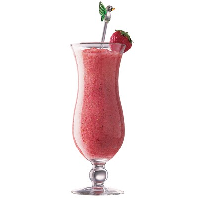 And of course the Strawberry Daiquiri!  You'll need 3 1/3 dark rum, ice, strawberry, sugar, lemon juice, lime juice.  First soften your frozen strawberries about 15 mins. Then combine ice and sugar into blinder pour in desired juices and rum. Blend. Then put sugar around rim. ENJOY!