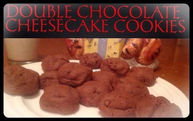 1 2/3 cups all-purpose flour 1/2 c unsweetened cocoa powder 1/2 tsp baking soda 1/4 tsp salt 1/2 c unsalted butter, softened 1 c loosely packed brown sugar 1/4 c granulated sugar 8 oz cream cheese, cold & cut into cubes 1 large egg yolk 2 tsp vanilla extract 1 c milk chocolate chips