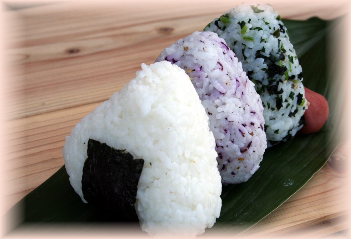 Onigiri!!! A Japanese rice ball that can be eaten for snack or dinner