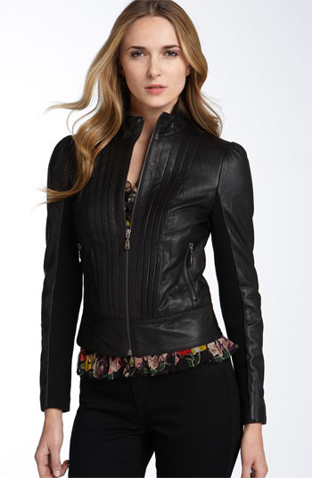 fitted leather motorcycle jacket from nordstrom