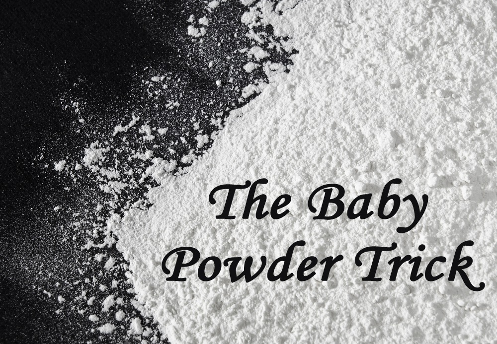Hair a little greasy? Add a little baby powder to the roots. Let sit for 1-2 minutes and brush out!
