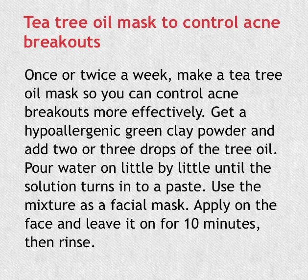 tea tree oil mask for acne breakouts