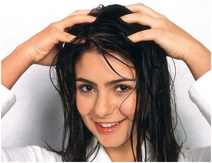 Massage your scalp for about 5-10 minutes every day. This helps stimulate hair growth. If you have extra time you can lay upside down off your bed/couch while massaging your head, this gets the blood flow to your head.