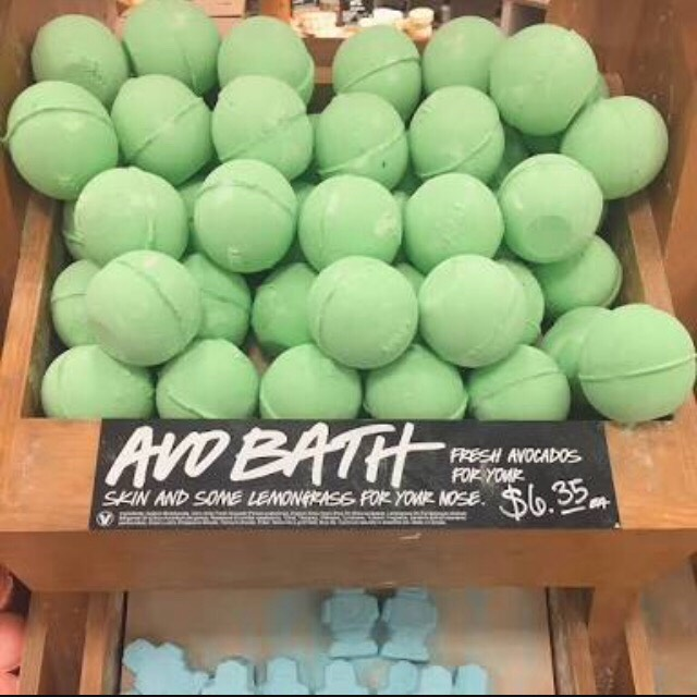🍃- Avo bath (Bath bomb) This bathbomb is one of my favourite scents😍😍It's uplifting and amazing. It's filled with lemongrass, bergamot, avocado and olive oil. I love this one a lot. Though it does look as pretty as some other ones which swirl and have multiple colours this one is calming😍💞