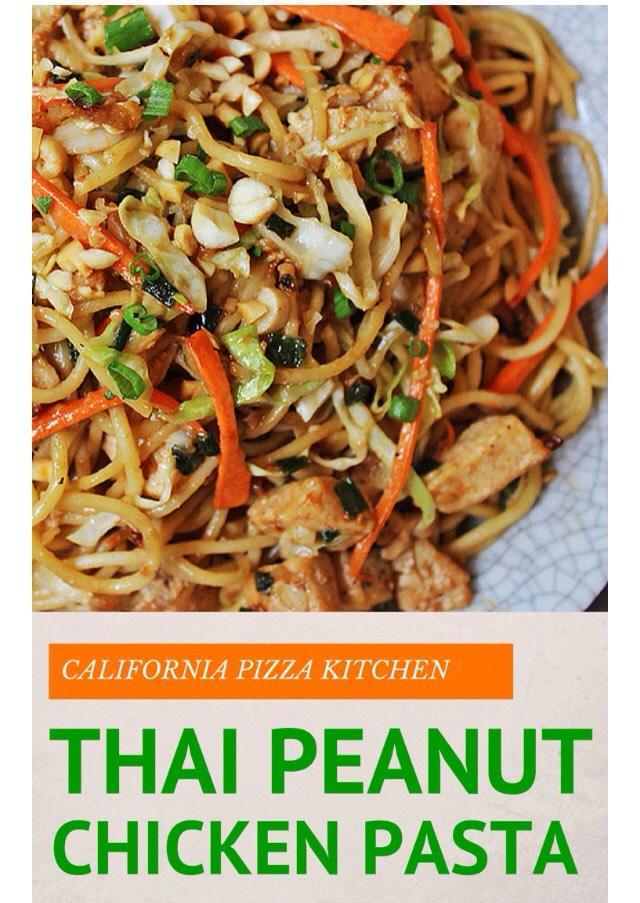 California Pizza Kitchen Thai Peanut Chicken Pasta By Mel
