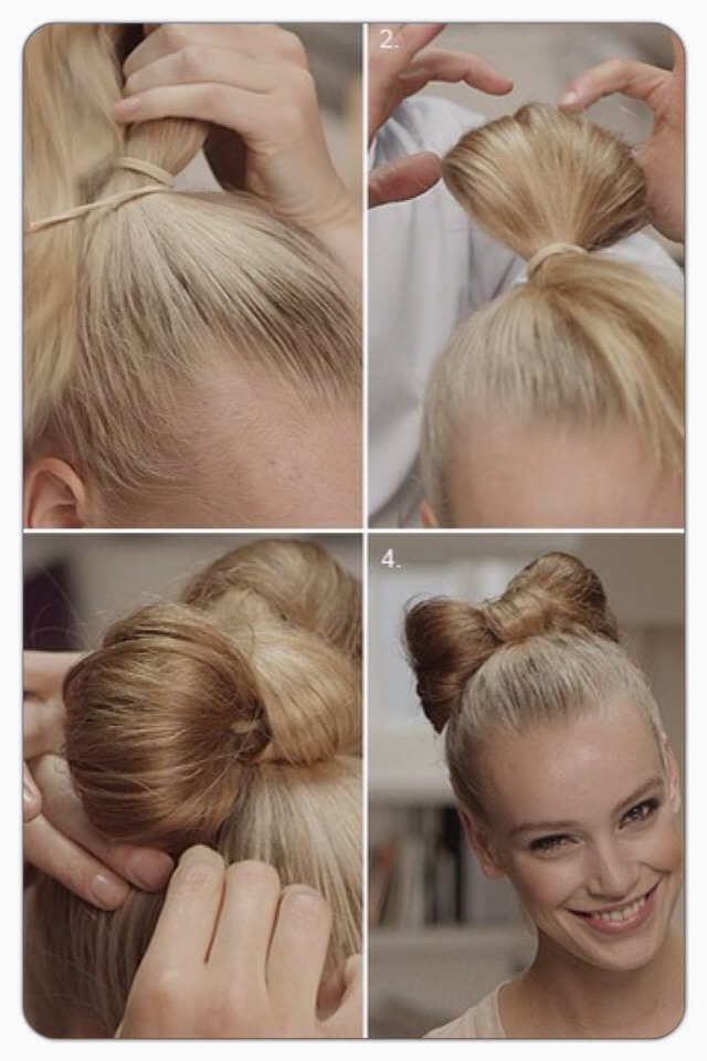 Make sure the ponytail is tight and secure before starting. When the bow is in place you can smooth and shape it before spaying.