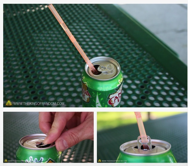Hack #6: Soda can and straws
