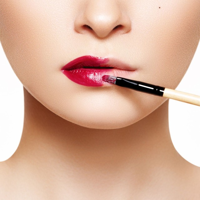 3. Apply foundation to the lips for a smoother lipstick application.  Foundation will give your lip color something to grab so it doesn't slip off.