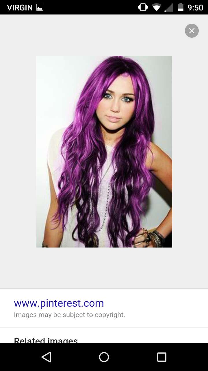#MileyCyrus with purple hair?! Amazing!!!