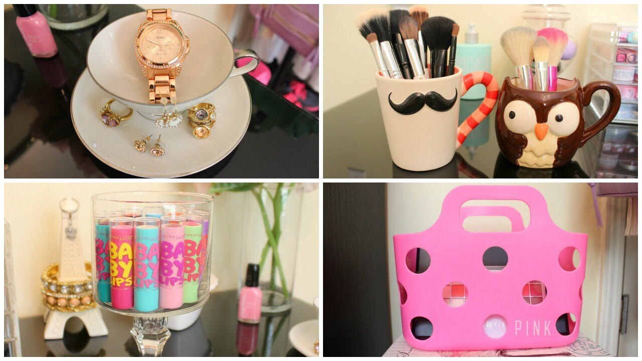 Take some home appliances and make them into a phone holder or a makeup cup or  other stuff
