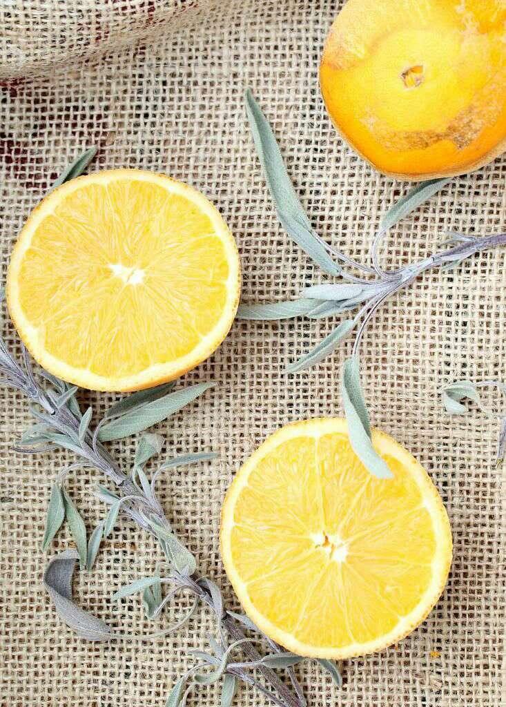 Orange + sage