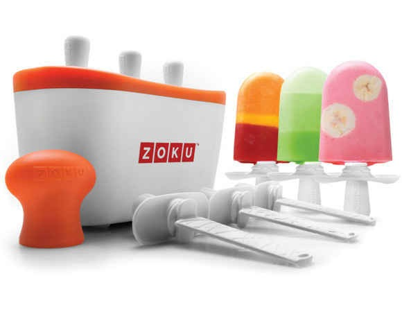 Personal Popsicle maker that will make your summer treats in only 7 minutes. Available at zokuhome.com for 49.99