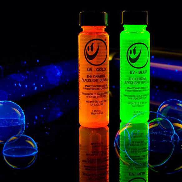 Get some glow sticks an add them to your bubbles. Super simple!