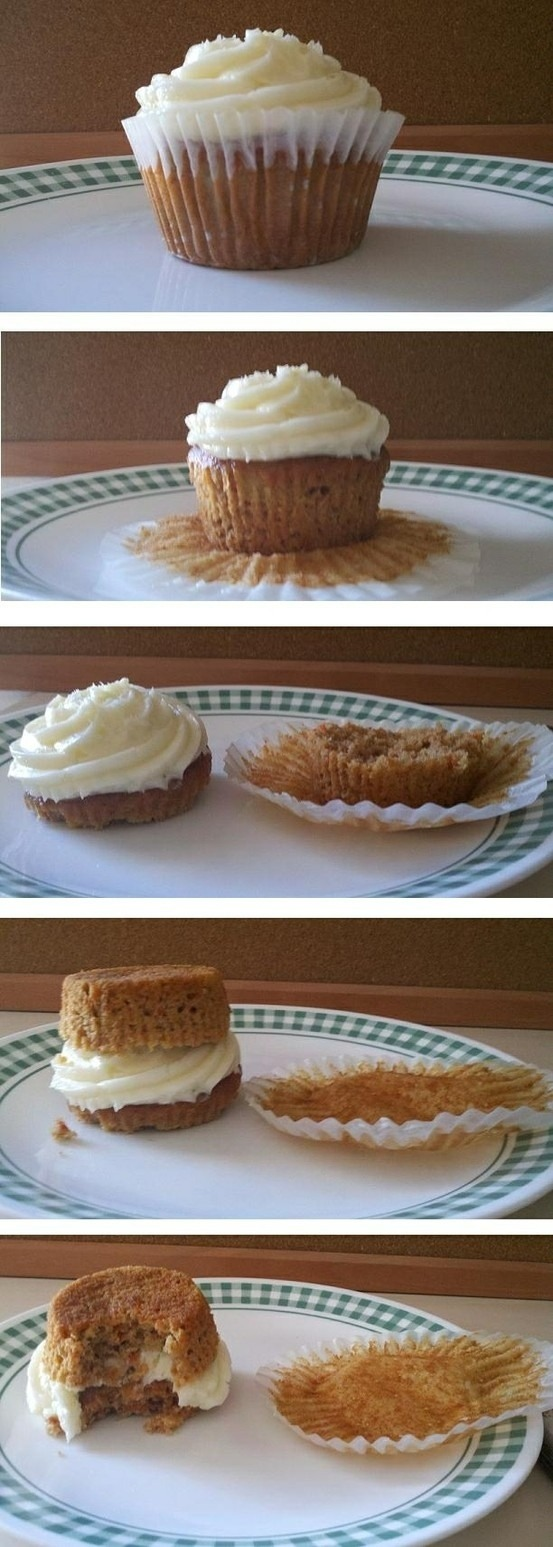 And flip it over you'll have a double decker cupcake yum! Click on pic for better view
