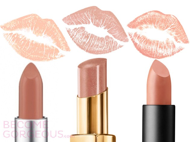 Nude color lipstick is a girls best friend. It'll help smoothen your lips look without overwhelming color.