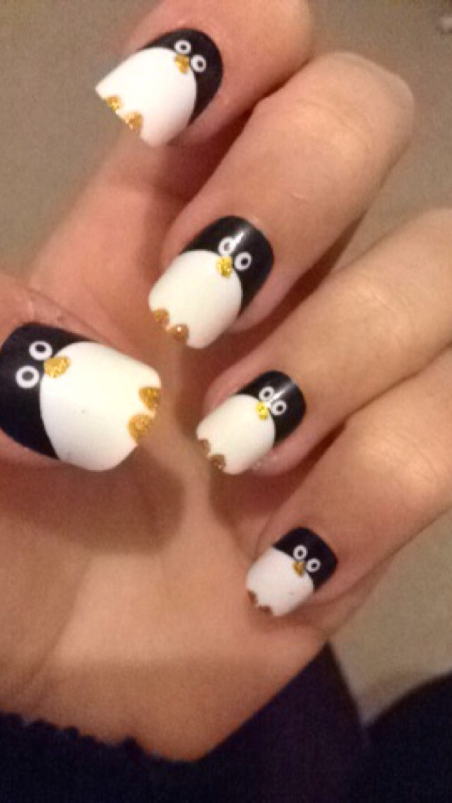 Penguin false nails from primark! £1