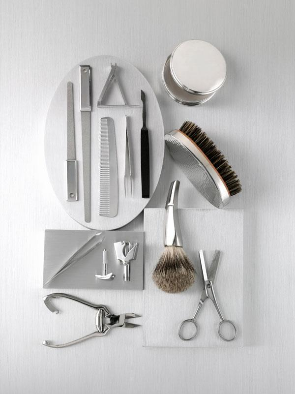 10. We have a whole collection of manscaping tools.  It's best if you don't know what weird ear/nose/body/pubic here we have to trim on the reg.